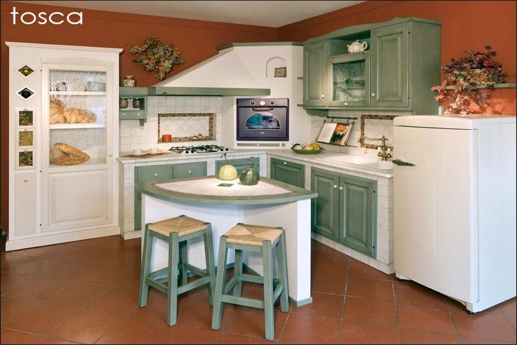 Cucina tosca design country cucina in legno massello con piano di lavoro in piastrelle di - Fabbriche di mobili in veneto ...